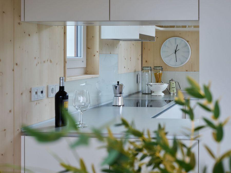 Der Blick in eine Küche