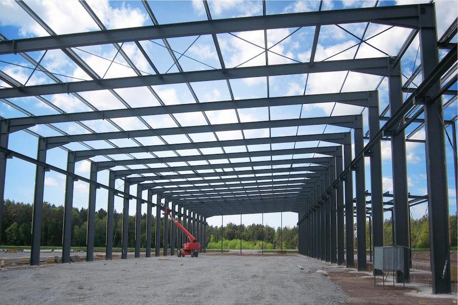 Ein Bau aus Stahl
