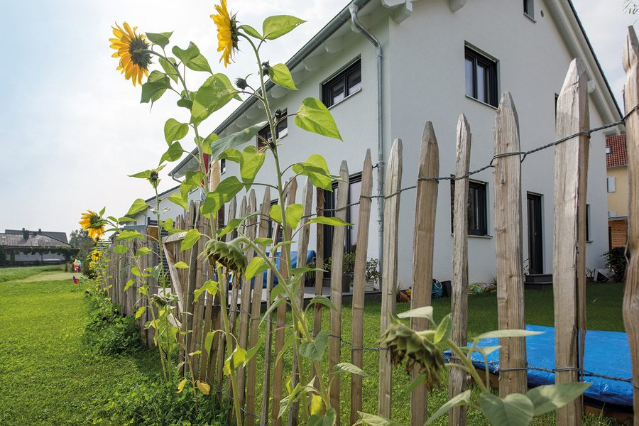 Ein Gartenzaun